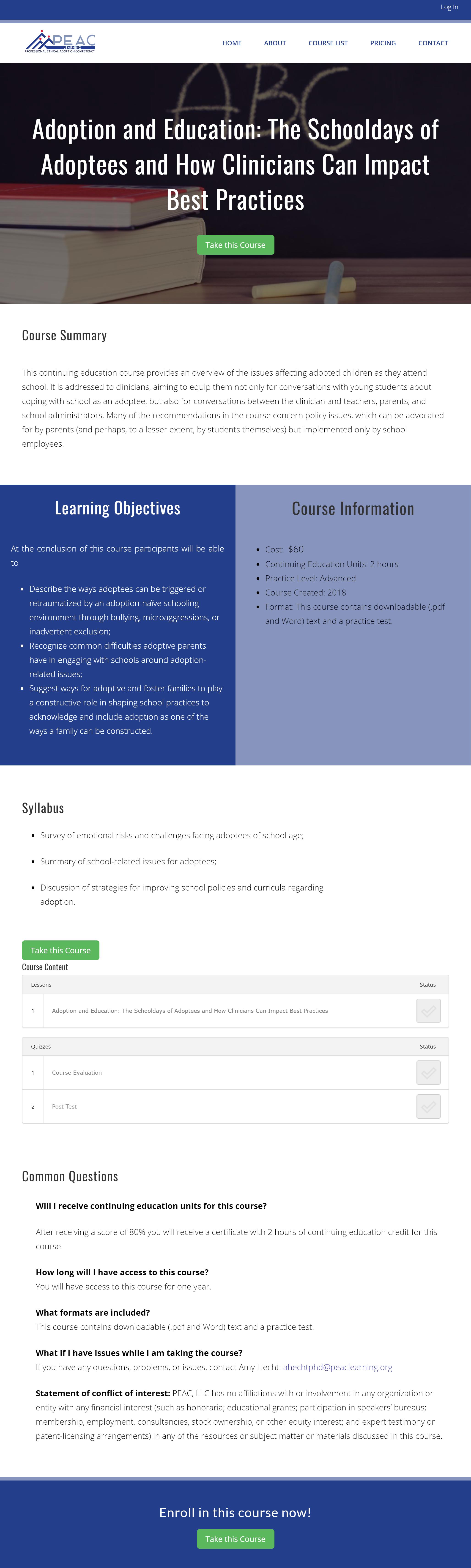 course description desktop